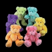 Plush Bears in Assorted Colors